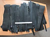 Обрезки ременной кожи, площадь 1-7 кв.дм., толщина 3.5 мм, черного цвета, арт. СК 1652