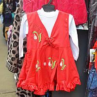 Нарядный костюмчик для девочек от 1 до 3 лет, двойка  - тюльпанчики