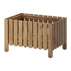 IKEA, ASKHOLMEN, Ящик для цветов, серо-коричневый, светло-коричневая морилка (30258673)(302.586.73) АСКХОЛМЕН ИКЕА