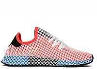 Мужские кроссовки Adidas Deerupt Red. Живое фото. Реплика люкс ААА+