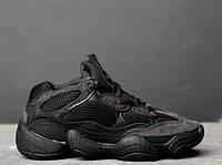 Кроссовки Adidas Yeezy 500 Utility Black.  Живое фото. (Реплика ААА+)