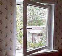 1-створчатое пластиковое окно с открыванием Rehau 70, фото 1
