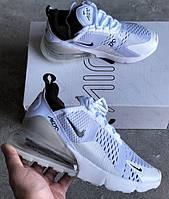 Кроссовки Nike Air Max 270 All White. Топ качество! Живое фото (Реплика ААА+)