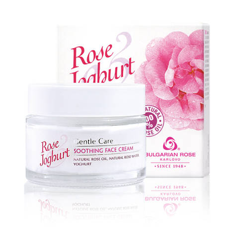 Успокаивающий крем для лица Болгарская Роза Rose Joghurt 50 мл, фото 2