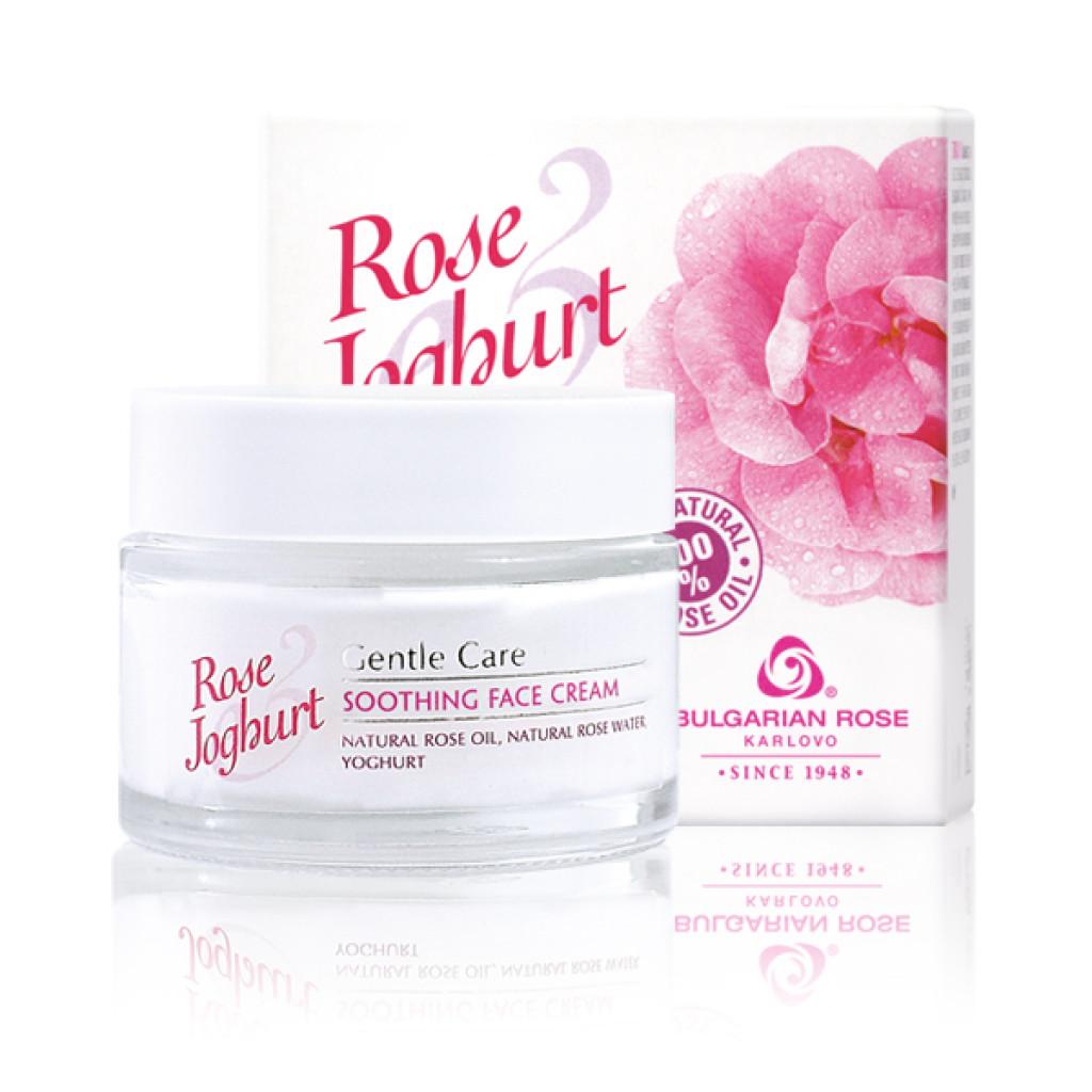 Заспокійливий крем для обличчя Болгарська Троянда Rose Joghurt 50 мл
