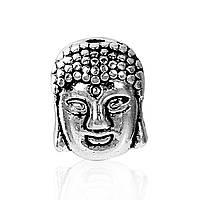 """Бусина 3D, 11 мм x 9 мм, 1.7 мм """" Будда """", Античное серебро, Цинковый сплав, фото 1"""
