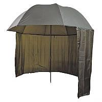 Зонт палатка для рыбалки 2 окна тент d 2.2 м