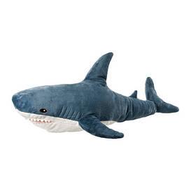 IKEA, BLAHAJ, Мягкая игрушка, акула, 100 см (30373588)(303.735.88) БЛАХАЙ ИКЕА