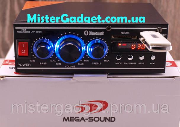 Усилитель Mega-Sound AV-301B Bluetooth FM+SD card+USB , фото 2