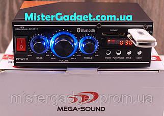 Підсилювач Mega-Sound AV-301B Bluetooth FM+SD card+USB