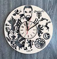 """Настенные часы из дерева """"Игра престолов"""""""