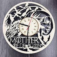 """Деревянные настенные часы """"Mother of Dragons"""", фото 1"""