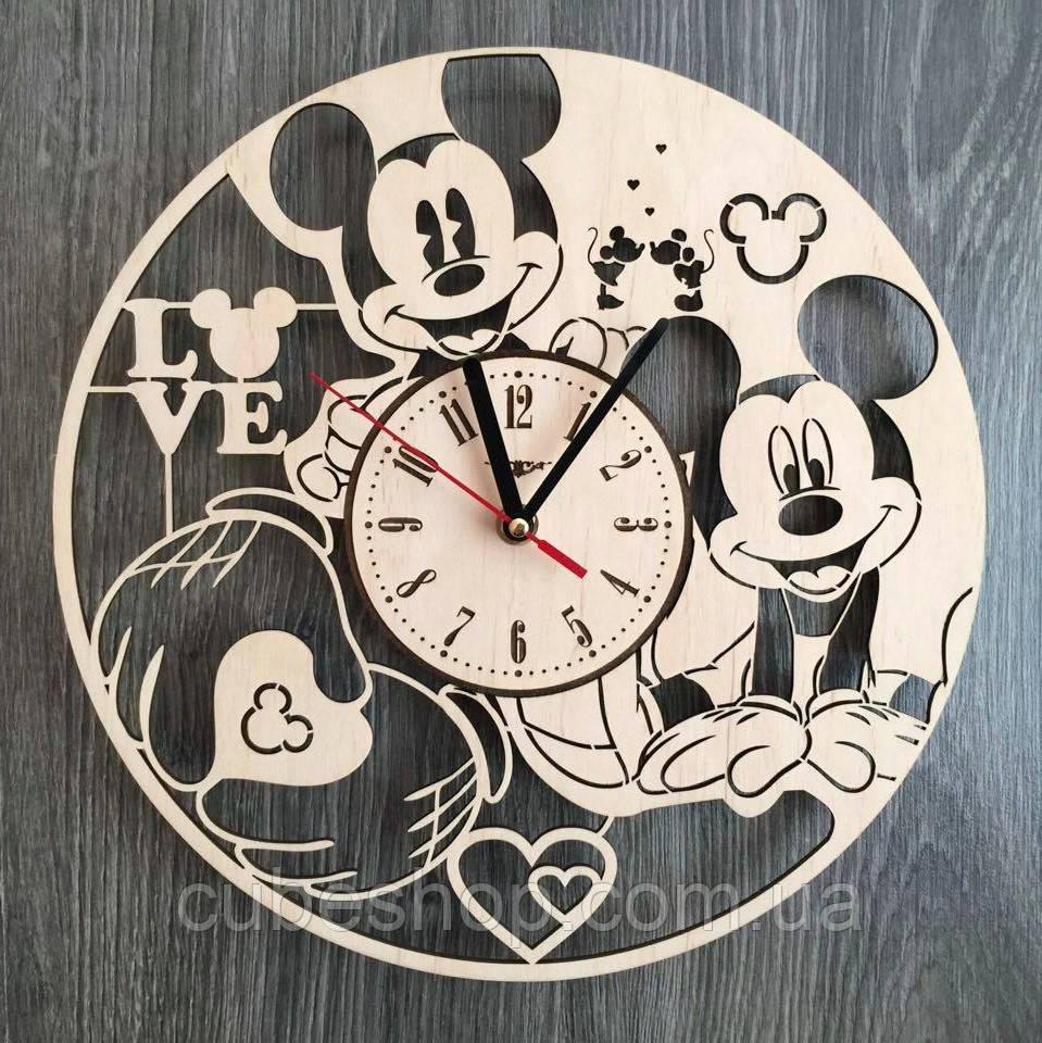 """Детские настенные часы """"Микки Маус"""""""