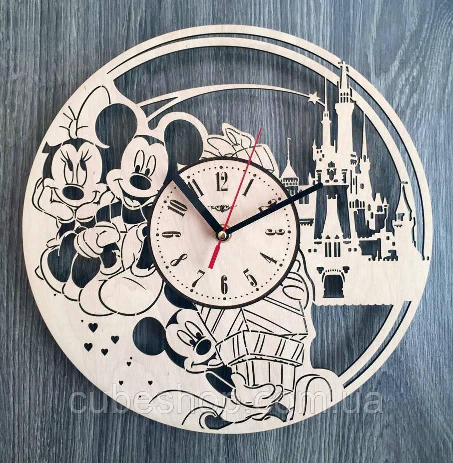 """Детские настенные часы """"Микки и Минни Маус"""""""