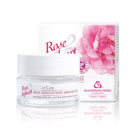 Молочный концентрат для области вокруг глаз Болгарская Роза Rose Joghurt 15 мл, фото 2