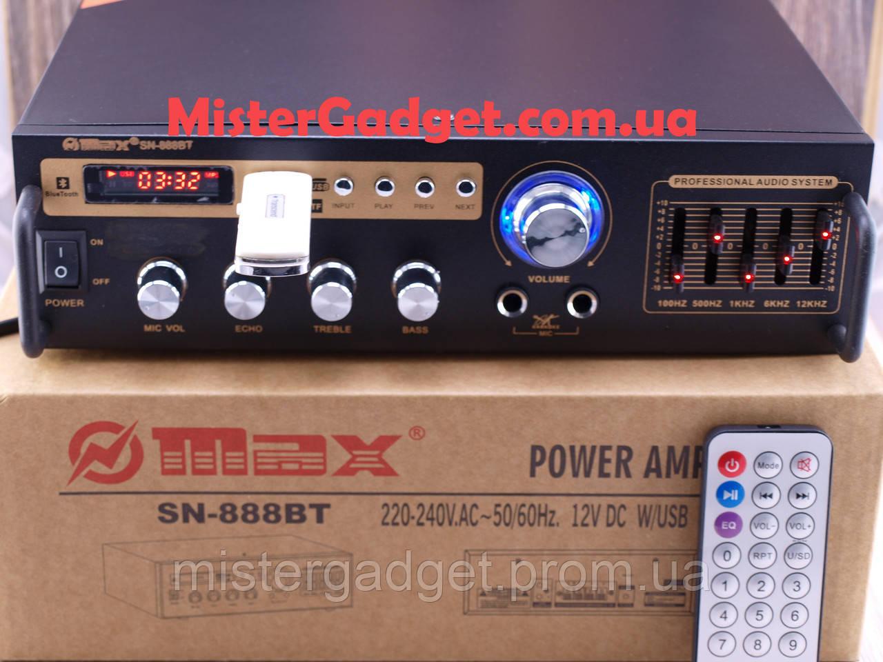 Усилитель Max SN-888BT Bluetooth FM+SD card+USB