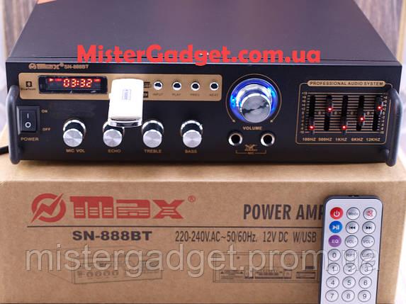 Усилитель Max SN-888BT Bluetooth FM+SD card+USB , фото 2