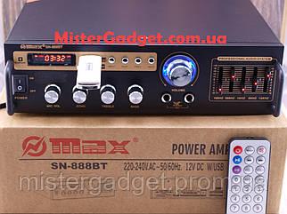 Підсилювач Max SN-888BT Bluetooth FM+SD card+USB