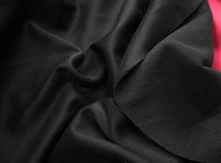 Трикотаж дайвинг с начесом черный