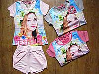 Летние комплекты для девочек S&D. 4-12 года.