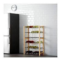 IKEA, IVAR, 1 секция / стойка для бутылок, сосна, серый (49133579)(S491.335.79) ИВАР, ІВАР, ИКЕА, ІКЕА, АЙКИА