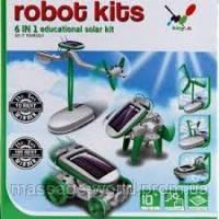 Детский конструктор 6 в 1 - трансформер на солнечной батарее RobotiKits (Роботикитс)