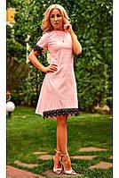 Красивое нарядное женское платье розового цвета .