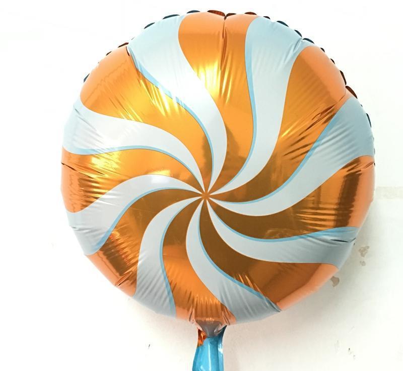 Шар круг фольгированный, ЛЕДЕНЕЦ ОРАНЖЕВЫЙ - 45 см (18 дюймов)