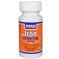 Железо хелат  120 капс 18 мг для повышения гемоглобина укрепления иммунитета  Now Foods USA