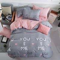 Комплект постельного белья Ты и Я (двуспальный-евро) Berni