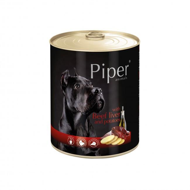 Консерви DN Piper 800 г з яловичою печінкою і картоплею для собак