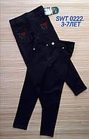 Лосины-брюки для девочек 3-7 лет. Оптом.Турция. Черные.