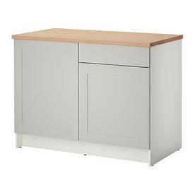 IKEA, KNOXHULT, Напольный шкаф, дверь и выдвижной ящик, серый, 120 см (50326794)(S503.267.94) КНОКСХУЛТ ИКЕА
