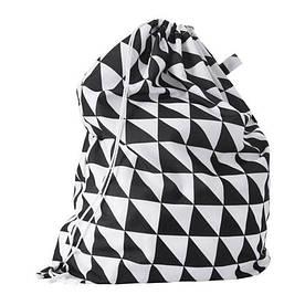 IKEA, SNAJDA, Мешок для белья, черный/белый, 60 л (50329943)(503.299.43) СНАЙДА ИКЕА