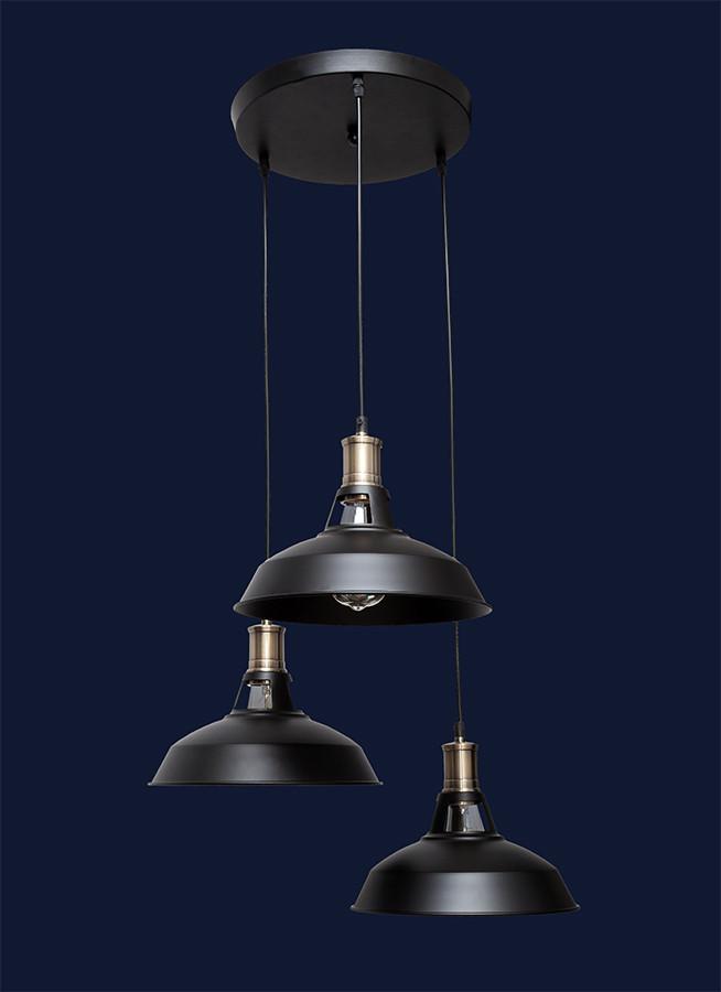 Светильники в стиле лофт 7526857F4-3 BK (300) 4home