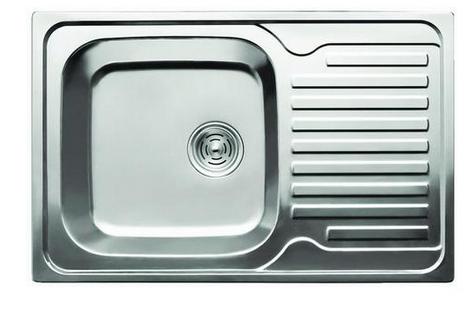 Мойка для кухни из нержавеющей стали Cristal Katana с полкой 78*50