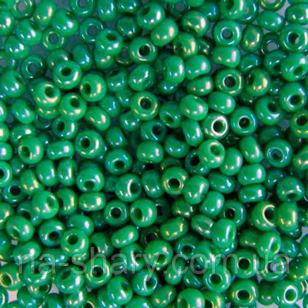 Чешский бисер для вышивания Preciosa (Прециоза) оригинальный 5г 33119-54250-10 зеленый