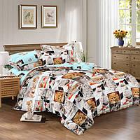 Двуспальное постельное белье САТИН 100% хлопок 326