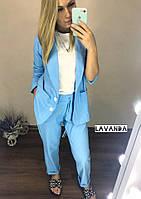 Женский костюм пиджак на пуговках + брюки, фото 1