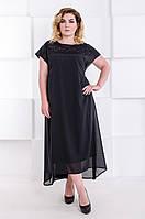 Платье-двойка Камбер  60-70 черный