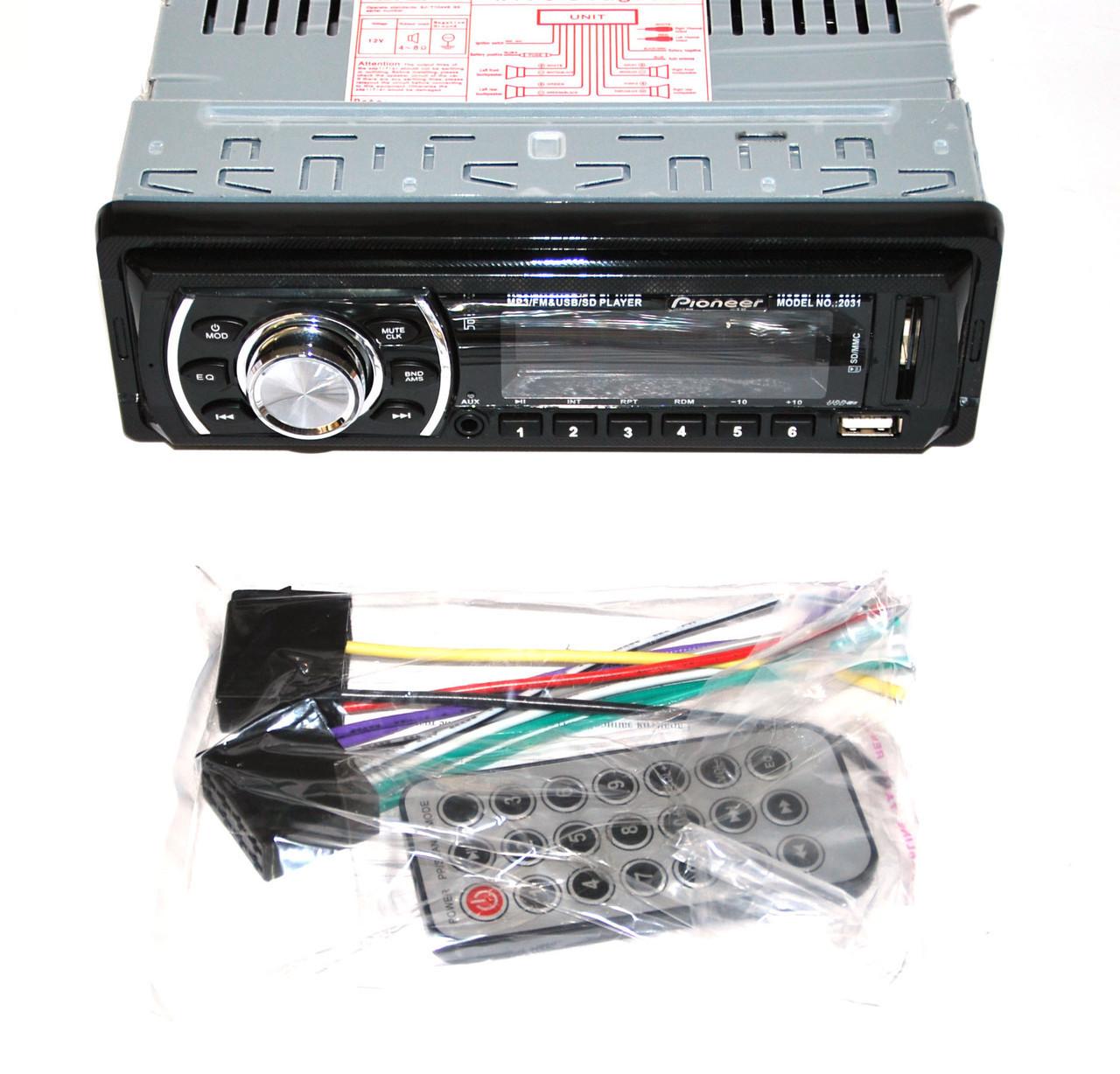 Автомагнитола Pioneer 2031 USB+FM+MP3