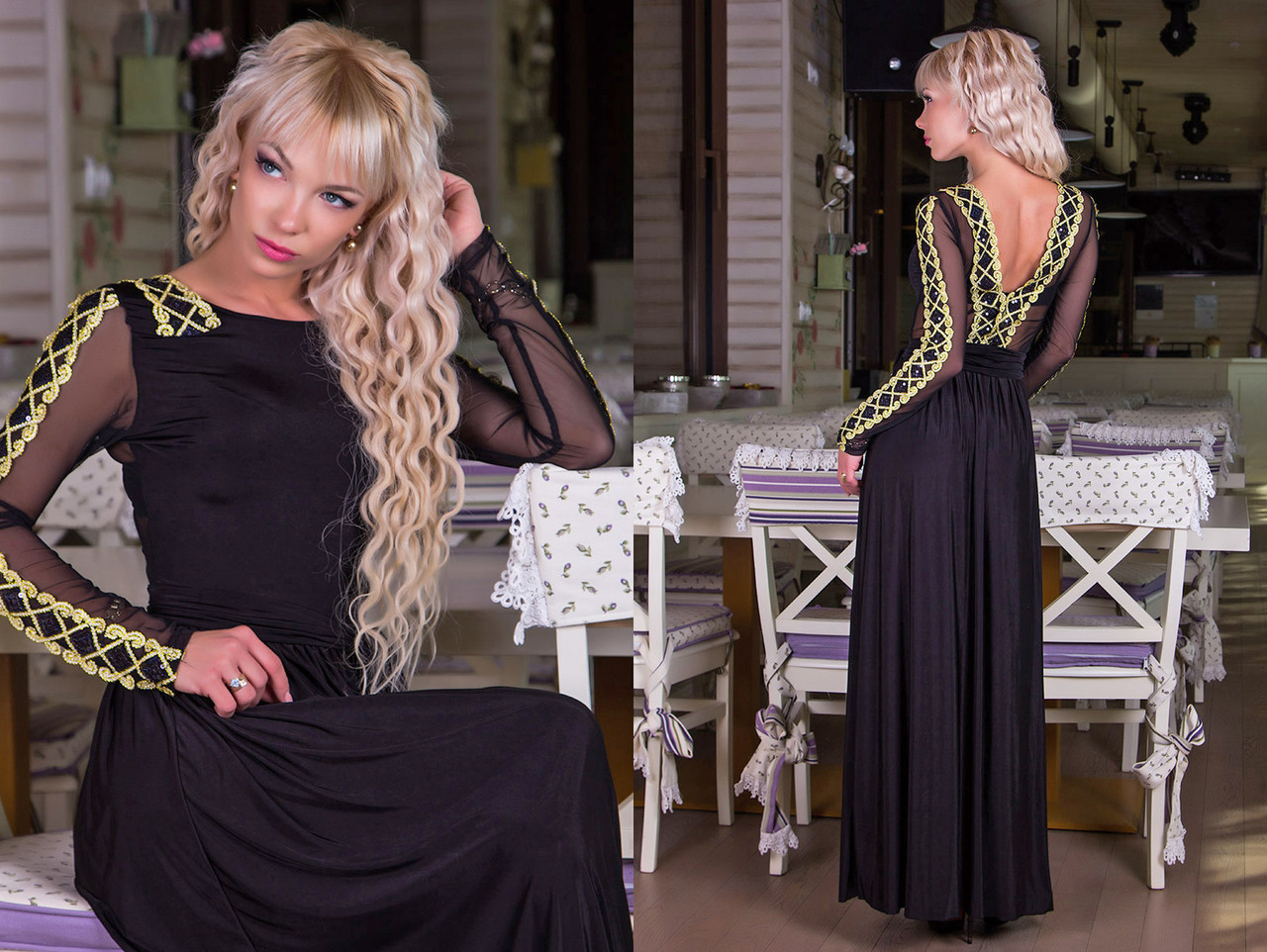 8d2b45198ee Элегантное вечернее длинное платье с открытой спиной