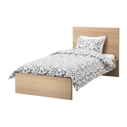 Ikea Bed 120x200.Ikea Malm Karkas Krovati Vysokij Dubovyj Shpon Belenyj 120x200