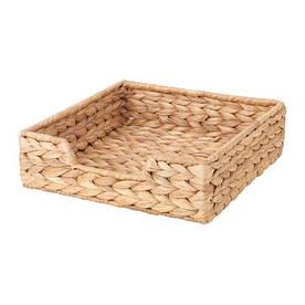IKEA, CISSAN, Салфетница, водный гиацинт, 23x23 см (60334289)(603.342.89) КИССАН КИСАН ИКЕА
