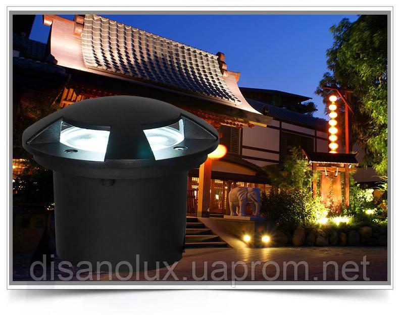 Светильник грунтовый A4- LED 5W 220V  размер  120м*90мм IP67  3000К