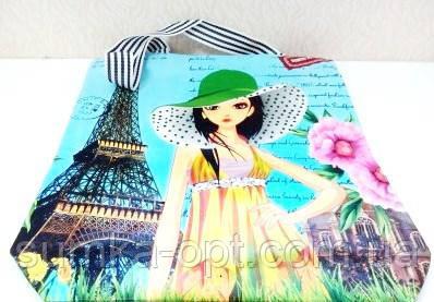 Универсальные сумки дешево оптом Китай (принты девочка)40*30