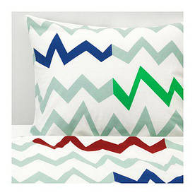 IKEA, STILLSAMT, Комплект постельного белья, светло-зеленый, разноцветный (60376769)(603.767.69) СТИЛЛСАМТ СТИЛСАМТ ИКЕА
