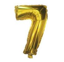 """Куля фольгований цифра """"7"""", ЗОЛОТО - 35 см (14 дюймів)"""