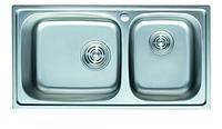 Мойка для кухни из нержавеющей стали декор 82*45