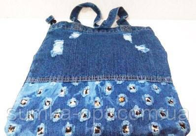 Джинсовые сумки (синий)35*38